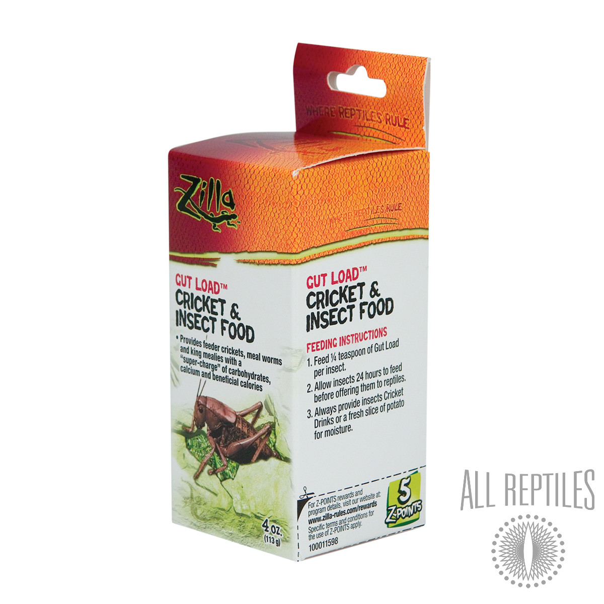 Rzilla Gut Load Cricket & Insect Food