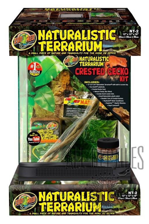 ZM Naturalistic Terrarium Crested Gecko Kit
