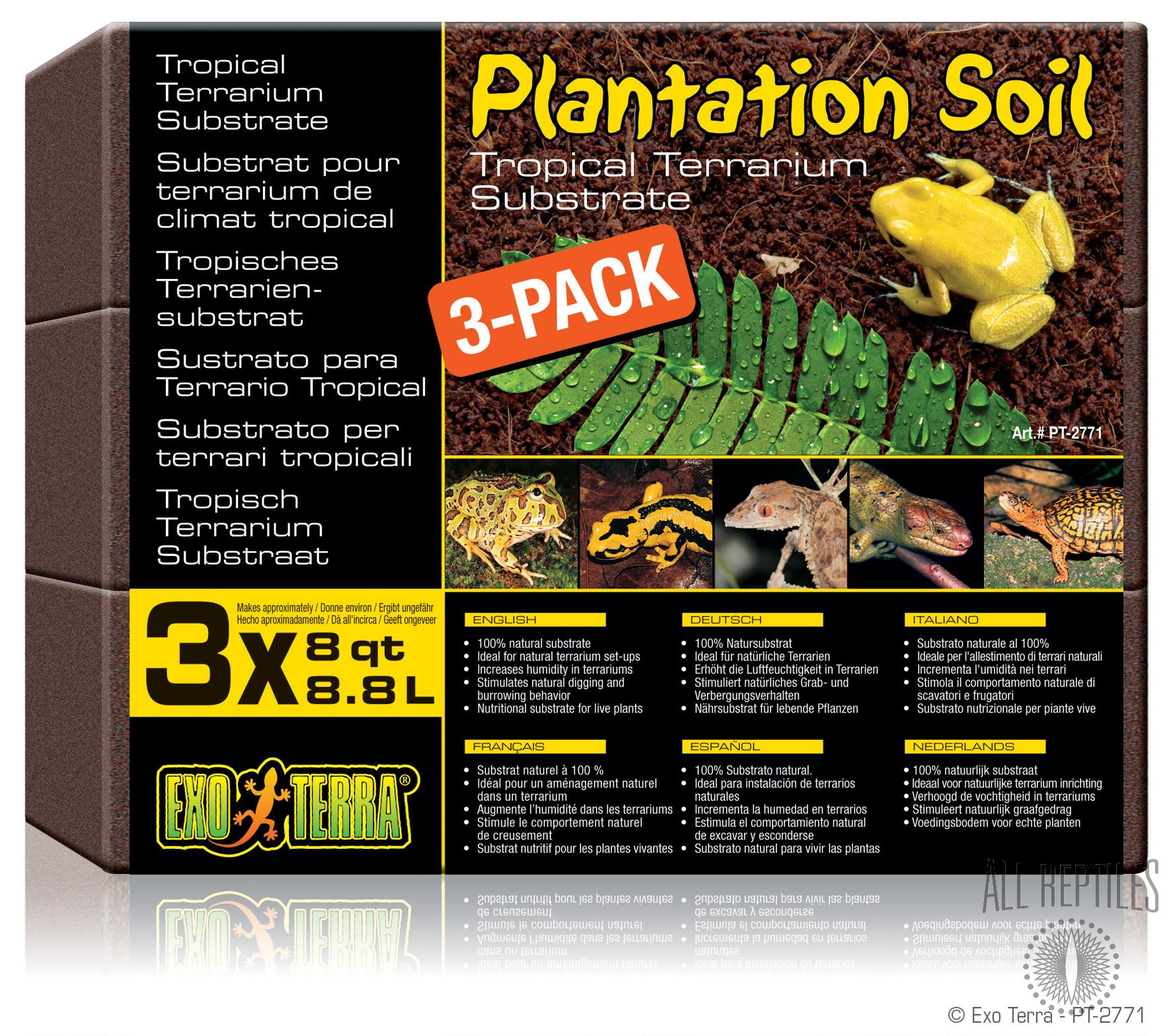 Exo Terra Plantation Soil Bricks