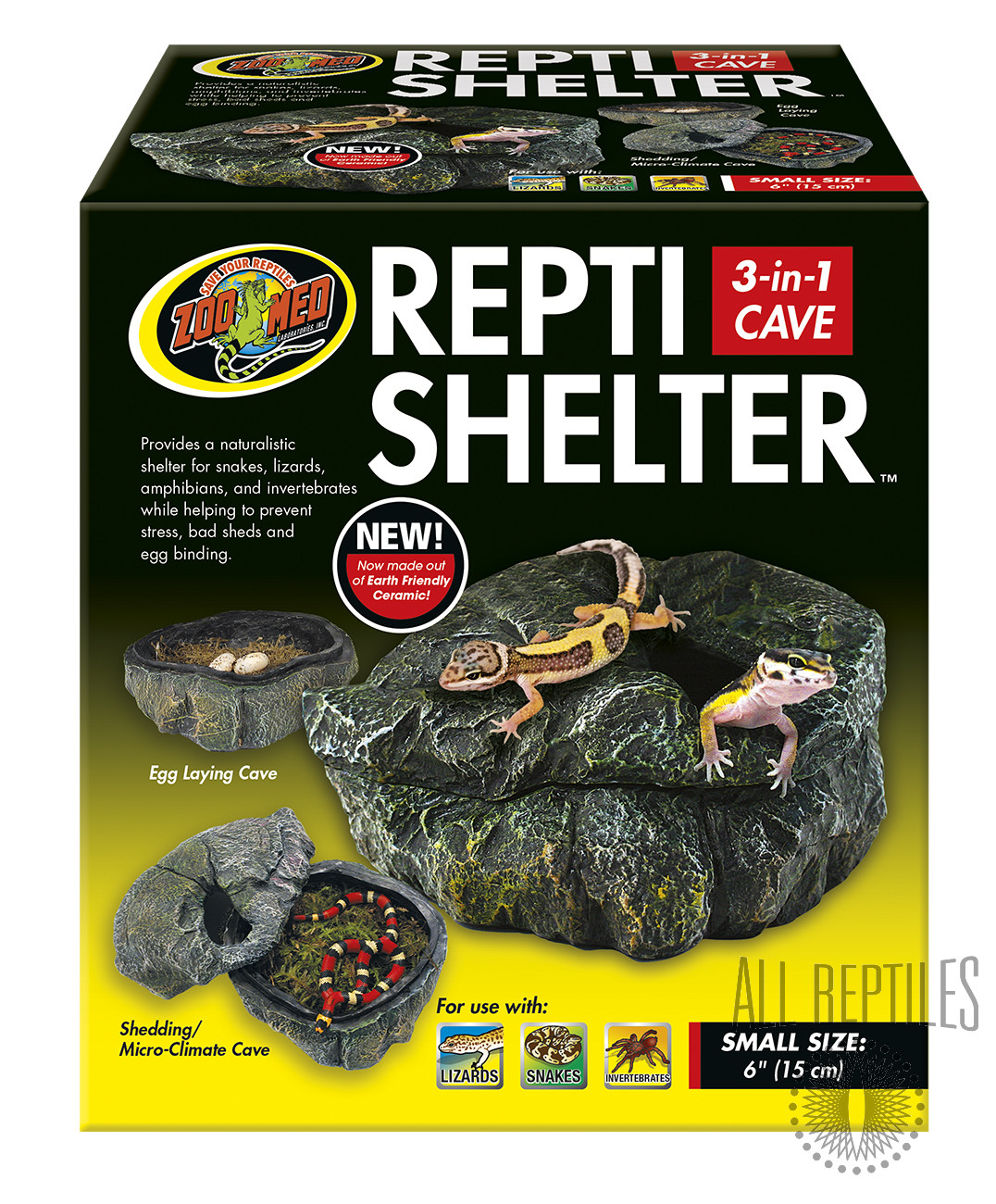 ZM Repti Shelter 3-In-1 Cave