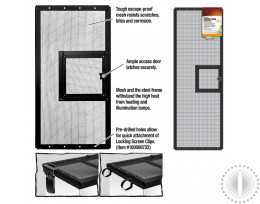 Rzilla Screen Cover with Door